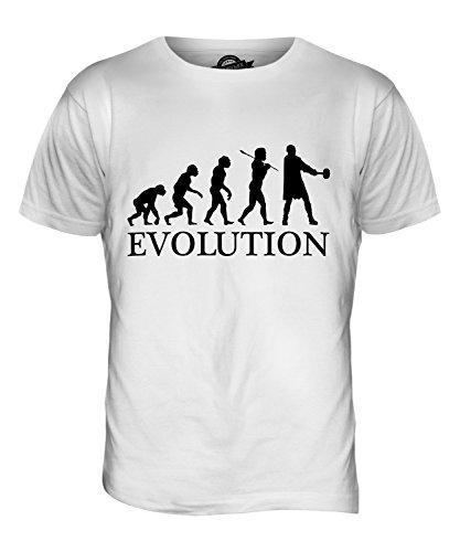 CandyMix Thors Hammer Evolution Des Menschen Herren T Shirt Weiß