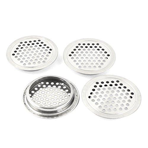 Küche 65mm Dia Edelstahl rund Mesh Loch Air Vents breitstrahlendes Aluminiumraster 4
