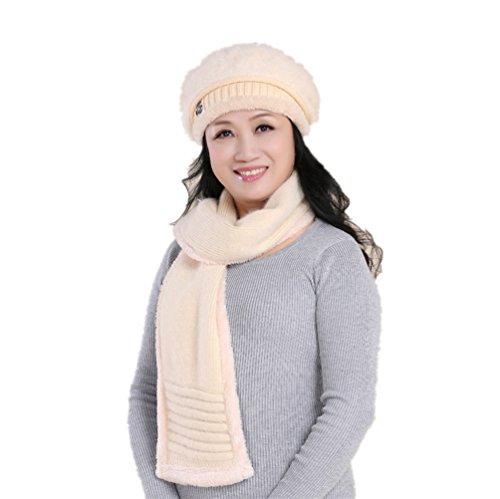 Generic - Ensemble bonnet, écharpe et gants - Fille Beige