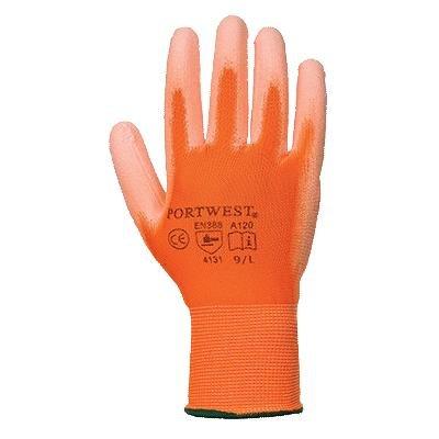 Portwest Arbeitshandschuhe mit PU Beschichtung (Medium) (Orange) (Poly-beschichtung)