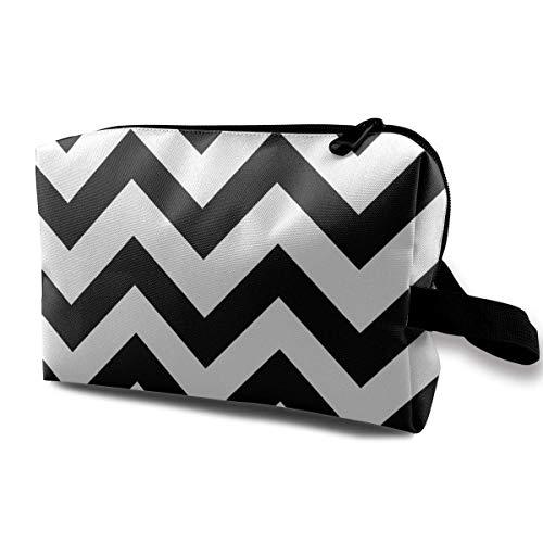 Black and White Stripe Travel Storage Bag Cosmetic Bag