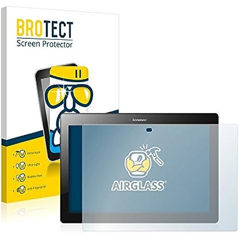 BROTECT AirGlass Protector Pantalla Cristal Flexible para Lenovo Tab 2 A10-30F Protector Cristal Vidrio - Extra-Duro,