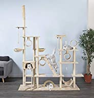 Go Pet Club Cat Tree Condo Furniture, Light Beige, 108 inches, Fc06