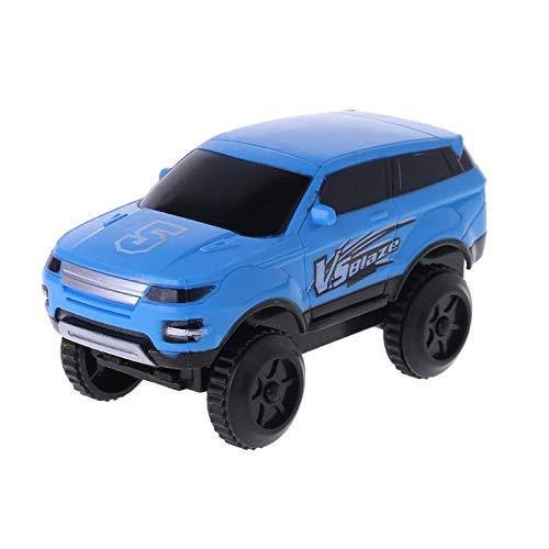 KINTRADE Electronic Track Car Toy Electric Hummer Rail Car Juguetes para niños niños Azul