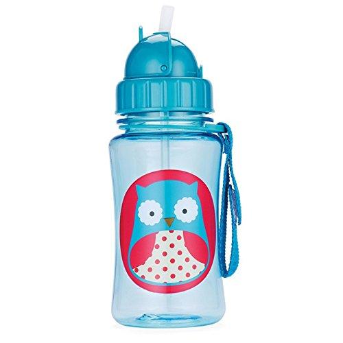 Skip Hop Zoo Owl - Botella con pajita de recambio