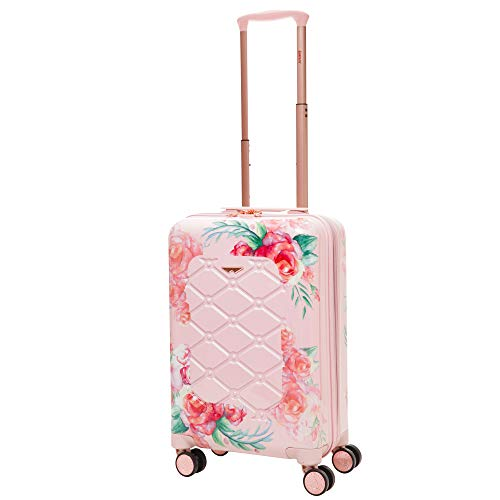 Aerolite Premium Hard Shell 4 Wheel Cabin Luggage Suitcase, Rose Blush