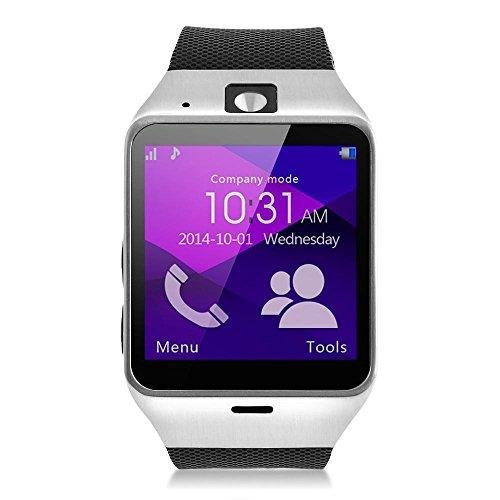 """MEMTEQ® Bluetooth Reloj inteligente pantalla de 1,54 """" táctil capacitiva con la cámara 1,3MP / música Bluetooth / notificación remota / fotografía a distancia /Protección anti-robo para smartphone Samsung / HTC / LG / Huawei / ZTE"""
