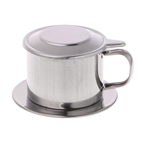 Junlinto,Vietnamesischer Kaffeefilter-Edelstahl-Hersteller-Topf infusieren Das Schalen-Umhüllen...