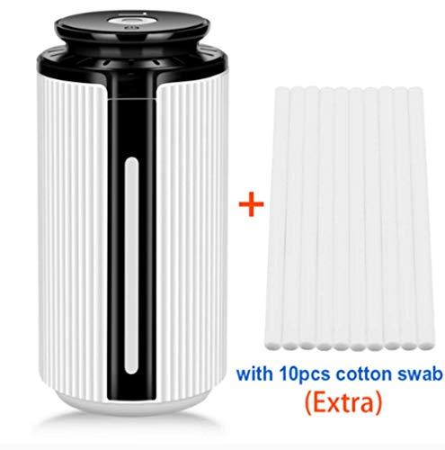 SMEI Nouveau 900ml Air Humidifier Ultrasonic Usb Diffuser Aroma Essential Oil 7 Color Led Night Light Cool Mist Purifier avec 10pcs Coton -