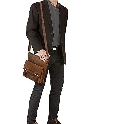 STILORD 'Leo' Sacoche Cuir marron Bandoulière pour Homme Femme Vintage Sac Messager pour Tablette iPad 10.1 Pouces Sac à l'épaule Besace en cuir véritable