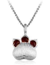 ebfe37910165 Fairye Lindo Collar De Plata con Colgante De Garra De Gato Fresco Y Simple  Adecuado para