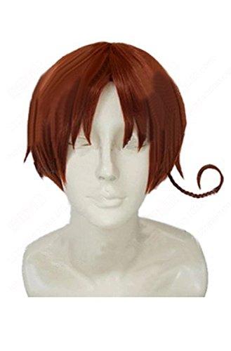 Preisvergleich Produktbild Halloween Kostüm Hetalia North Italy Feliciano Vargas Cosplay Perücke Wig Kurze Braune Haare Zubehör