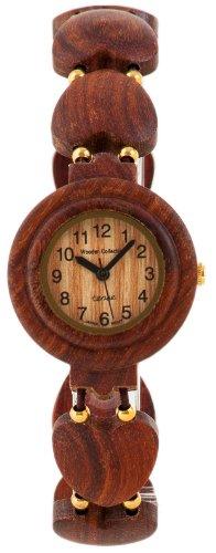Holzuhr TENSE Womens Maria Premium Damen-Uhr L7007S - Natürliches Sandelholz L7007S