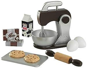 KidKraft - Set de cocina de juguete con batidora y accesorios para repostería, de madera, Color Espresso (63370)