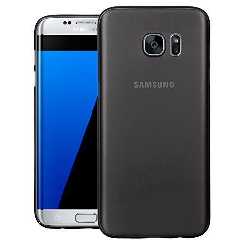 ZOUK Galaxy S7 edge Case, PP [0.35mm] Ultra-Thin / Slim [ Perfect Fit ] Thinnest Hard Protect Case Back Cover Bumper [ Semi-transparent ] Lightweight Back Cover for Samsung Galaxy S7 edge – Black