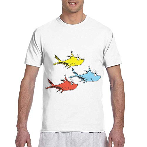 Overall Maskottchen Kostüm Affen - T-Shirt Men's Casual Short Sleeve Quint's Shark Fishing Plain Printed Shirts Tee Large