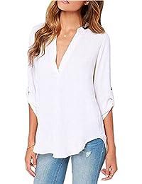 Amazon.co.uk: White - Blouses & Shirts / Women: Clothing