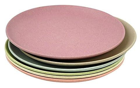 Zuperzozial Collection Raw Earth Service de 6assiettes à gâteau Couleurs de l'aube
