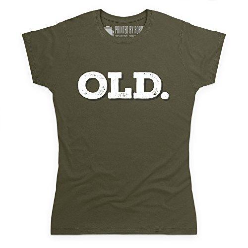 Old T-Shirt, Damen Olivgrn