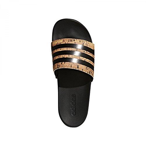 Ciabatte Adidas Mens Adelette Cf + Sughero Nero (cblack)