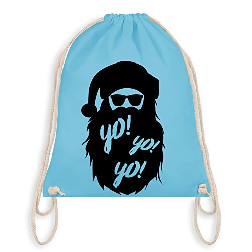 ter - Yo Santa - Unisize - Hellblau - WM110 - Turnbeutel I Gym Bag (Silvester Sonnenbrille)