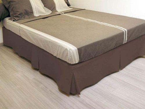Soleil d'ocre - 986060 - Cache-Sommier - 140 x 190 cm - Chocolat