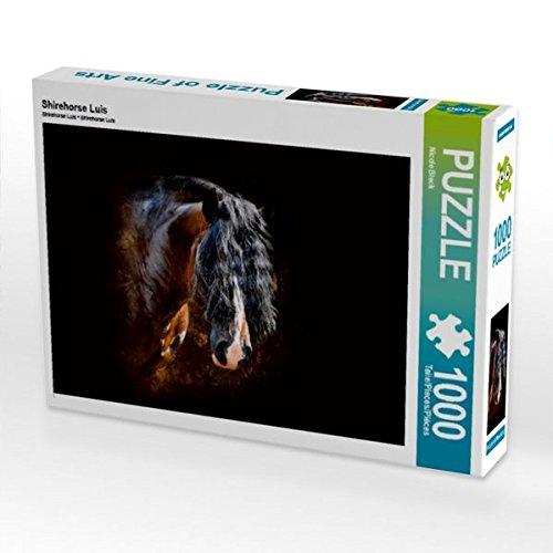 Preisvergleich Produktbild CALVENDO Puzzle Shirehorse Luis 1000 Teile Lege-Größe 64 x 48 cm Foto-Puzzle Bild von Nicole Bleck