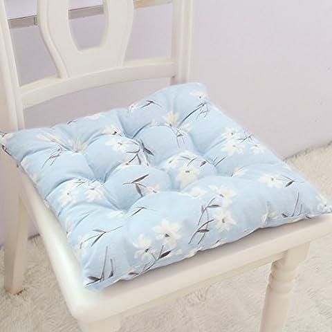 CLG-Fly Pan pastoral más gruesas almohadillas de espuma cojín de tela de la silla de oficina fundas de asiento de silla de comedor sofá cojines,solo