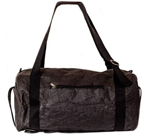 Papero ® Sporttasche aus Kraft- Papier ♻ | Ultra minimalistisch Herren Damen, Robust, Wasserfest ✅ Vegan fair nachhaltig ✅ Urban Style|FSC Zertifiziert | Reisetasche, Weekender - 2