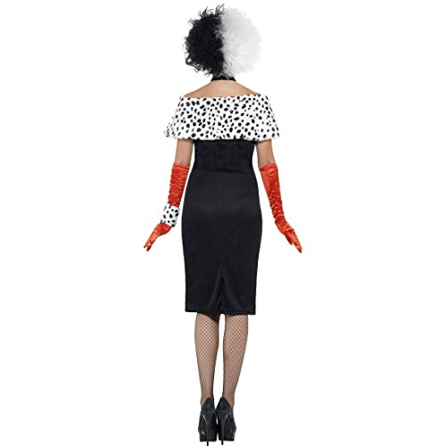 Bösewicht Kostüm Damen Für - Dalmatiner Lady Damenkostüm Böse Frau Halloweenkostüm S 36/38 Bösewicht Filmkostüm Cruella Kostüm Karneval Kostüme Damen Disney Faschingskostüm Madame Horrorkostüm