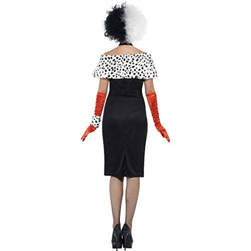 Disney Paare Kostüm Für - Dalmatiner Lady Damenkostüm Böse Frau Halloweenkostüm L 44/46 Bösewicht Filmkostüm Cruella Kostüm Karneval Kostüme Damen Disney Faschingskostüm Madame Horrorkostüm