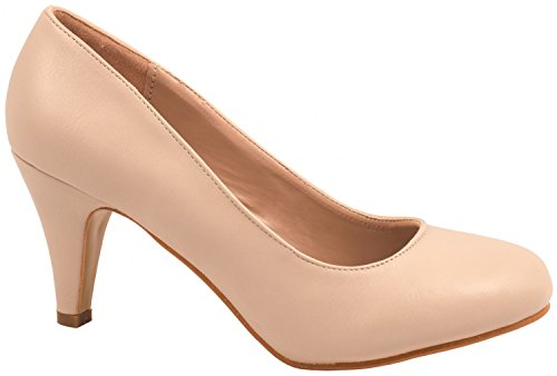 Elara Damen Pumps | Stiletto High Heels | Abendschuh Metallic| chunkyrayan YL201-Beige-38