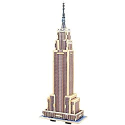 Creative Assemble Puzzle Toys Child Early Education Wooden 3 D Puzzle Building Empire State Building