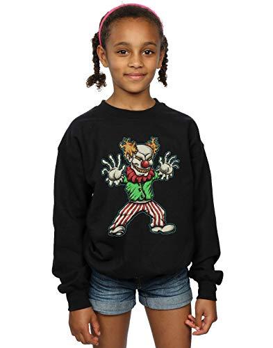Absolute Cult Drewbacca Mädchen Evil Clown Sweatshirt Schwarz 7-8 Years Clown Kinder Sweatshirt