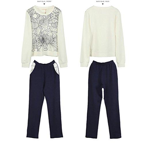 CHUNHUA Mme tricot à manches longues survêtement sport occasionnels Pyjamas , blue , xxl (170/92a) white female
