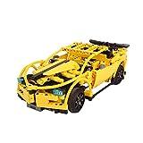 2.4GHz RC Ferngesteuertes Auto aus Bausteinen mit Fernbedienung, DIY Steckbausatz Konstruktion Auto aus Bausteinen zum Selber Bauen Basteln