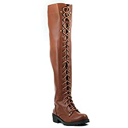 Shuberry Latest Footwear Collection, Comfortable & Fashionable Fabric, Tan Colour Faux Leather Boots for Womens & Girls (SB-263)