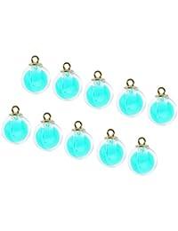 IPOTCH 10 Unids Colgantes Cristales para Hacer Collar Pendientes Brazaletes Adornos Navideños DIY