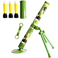 NICEWL Tactics Transmitter Mortar Toy for Kids,Cannonball Launcher Shooting Toy,Children's 60Mm Caliber Foam Sponge Bullet Catapult,Outdoor Military Game