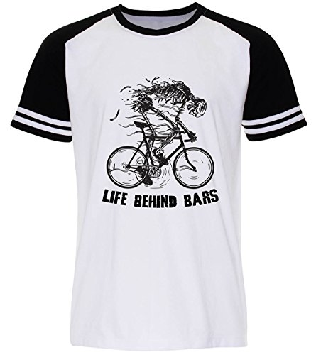 PALLAS Unisex's Bicycle Cycling Life Behind Bars White Sleeve Black