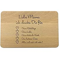 Tagliere per la colazione in legno con scritta, regalo per la festa della mamma, regalo di compleanno della mamma