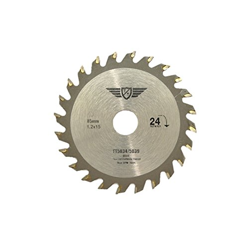 41fqU0C9uML - NO.1 BEST POWER TOOL REVIEW 1 x Topstools CS8524T 85mm 24T 15mm Bore TCT Saw Blades For Worx, Bosch, Makita, Ryobi, Rockwell and many others COMPARE BUY PRICE UK