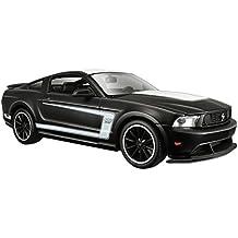 Ford Mustang Boss 302, matt-schwarz/weiss, Maisto 1:24