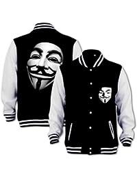 Blouson d'Université Vendetta Masque Anonymous