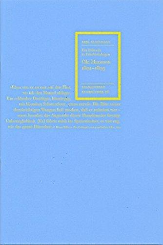 Ola Hansson 1891-1893: Ein Schwede in Friedrichshagen (Frankfurter Buntbücher) by Erik Glossmann (1999-12-01)