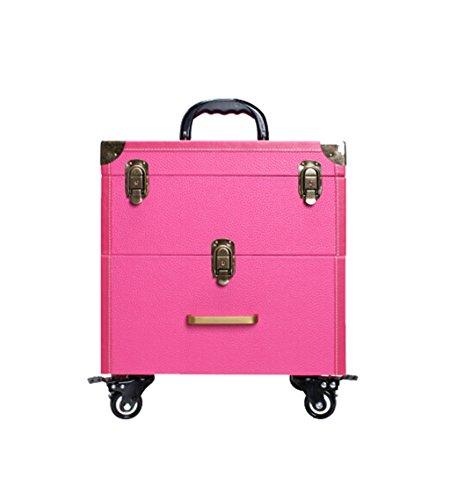 ZBBZ-BAG Coffrets de voyage cosmétiques Boîte de cosmétiques Grand format professionnel de mode, Maquillage de valise Maquillage Boîte de beauté Boîte à outils de polonais à ongles (style : # 2)