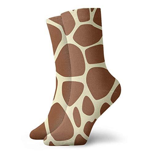 Crazy Sport Socke (Giraffe Print Pattern Men Women Novelty Funny Crazy Crew Sock Printed Sport Athletic Socken 30cm Long Personalized Gift Socken)