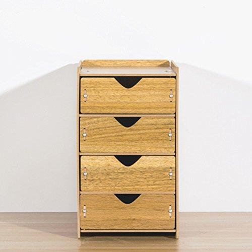 Multi-layer-holzschublade lagerschrank,Frei stehende spind desktop veredelung kleines kabinett objekt aufbewahrungsbox Veranstalter-C Frei Stehende Box
