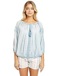 Elegant Tommy Hilfiger Damen Bestickte Polo Bluse Aus
