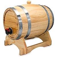 Vin Bouquet Barril Dispensador de Vino, Madera, Marrón, 31x22x23.5 cm, 3 Unidades
